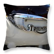 1967 Triumph Gas Tank 2 Throw Pillow