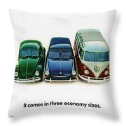 1967 Volkswagen Beetle Squareback And The Box Throw Pillow