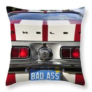 1968 Bad Ass Shelby Mustang Throw Pillow by David Lee Thompson