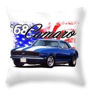 1968 Camaro Stars And Stripes Throw Pillow