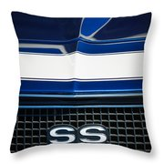 1968 Chevrolet Yenko Super Camaro Ss Grille Emblem -1745c Throw Pillow