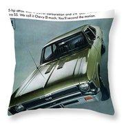 1968 Chevy Nova Ss Throw Pillow