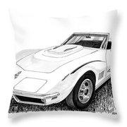 1968 Corvette Throw Pillow