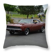 1968 Dodge Charger Grow Throw Pillow