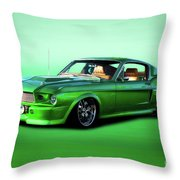 1968 Ford Mustang Fastback II Throw Pillow
