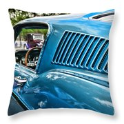 1968 Ford Mustang Fastback In Blue Throw Pillow