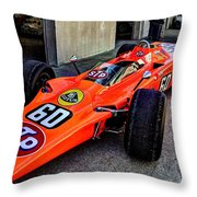 1968 Lotus 56 Turbine Indy Car #60 Angle Throw Pillow