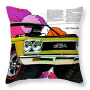 1968 Plymouth Gtx - Adios Throw Pillow