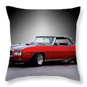 1968 Pontiac Firebird 400 Convertible Throw Pillow