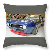1968 Trans-am Chevy Camaro Throw Pillow