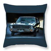 1969 Amx In Racing Green Throw Pillow