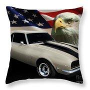 1969 Camaro Rs Tribute Throw Pillow
