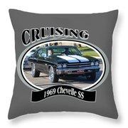 1969 Chevelle Ss Nuckolls Throw Pillow