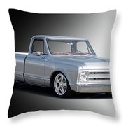 1969 Chevrolet C10 Pickup 'studio' 2 Throw Pillow