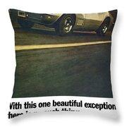 1969 Chevrolet Corvette Throw Pillow