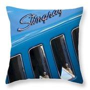 1969 Chevrolet Corvette Stingray Emblem Throw Pillow
