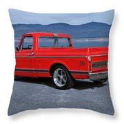 1969 Chevrolet Cst10 Pickup II Throw Pillow