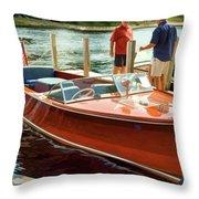 1969 Chris-craft Throw Pillow