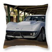 1969 Corvette Lt1 Coupe II Throw Pillow