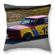 1969 Datsun 510 Throw Pillow