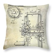 1969 Fly Reel Patent Throw Pillow