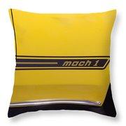 1969 Ford Mustang Mach 1 Logo Throw Pillow