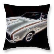 1969 Hurst Oldsmobile 455 Ho Electric Throw Pillow