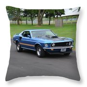 1969 Mach I Garland Throw Pillow
