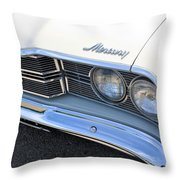 1969 Mercury Montego Mx Grille With Headlights And Logos Throw Pillow