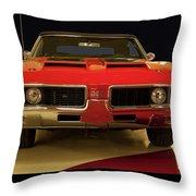 1969 Oldsmobile 442 W-30 Throw Pillow