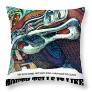1969 Plymouth Gtx - Plymouth Tells It Like It Is Throw Pillow