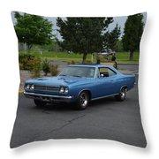 1969 Plymouth Roadrunner Green Throw Pillow