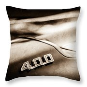 1969 Pontiac 400 Firebird Convertible -1039s Throw Pillow