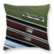 1969 Pontiac Gto Taillight Emblem Throw Pillow
