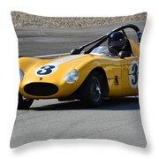 Vintage Racer Throw Pillow