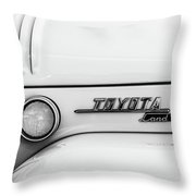 1969 Toyota Fj-40 Land Cruiser Emblem -0441bw Throw Pillow