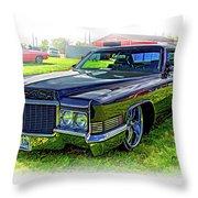 1970 Cadillac Deville - Vignette Throw Pillow