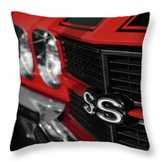 1970 Chevelle Ss396 Ss 396 Red Throw Pillow