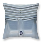 1970 Cord Royale Grille Hood Ornament Throw Pillow