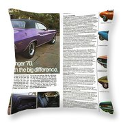 1970 Dodge Challenger Throw Pillow