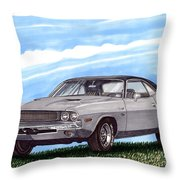 1970 Dodge Challenger Throw Pillow
