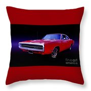 1970 Dodge Charger 500 Throw Pillow