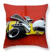 1970 Dodge Super Bee Emblem Throw Pillow