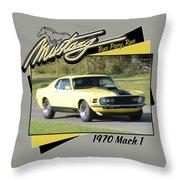 1970 Mach 1 Fellers Throw Pillow