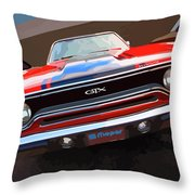 1970 Plymouth Gtx Vectorized Throw Pillow