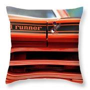 1970 Plymouth Road Runner - Vitamin C Orange Throw Pillow by Gordon Dean II