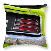 1970 Sublime Green Hemi 'cuda  Throw Pillow
