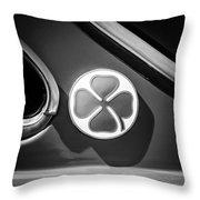 1971 Alfa Romeo Side Emblem -1755bw Throw Pillow