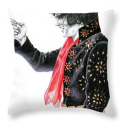 1971 Black Pinwheel Suit Throw Pillow