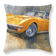 1971 Chevrolet Corvette Lt1 Coupe Throw Pillow